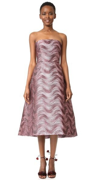 dress midi dress strapless midi blush