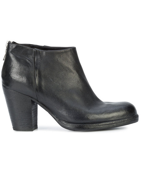 Sartori Gold back zip women ankle boots leather black shoes