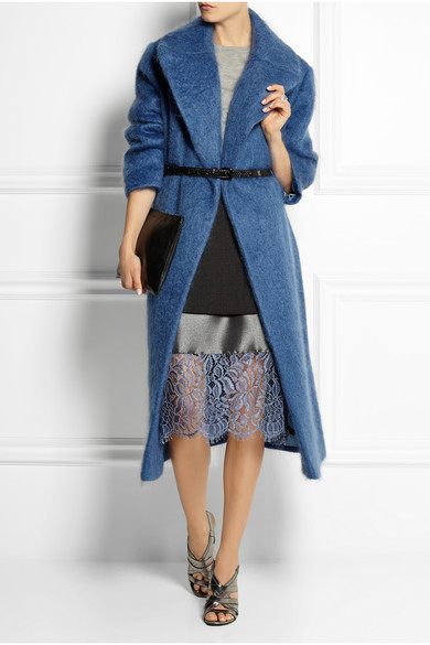 Topshop Unique | Oversized mohair-blend blanket coat | NET-A-PORTER.COM