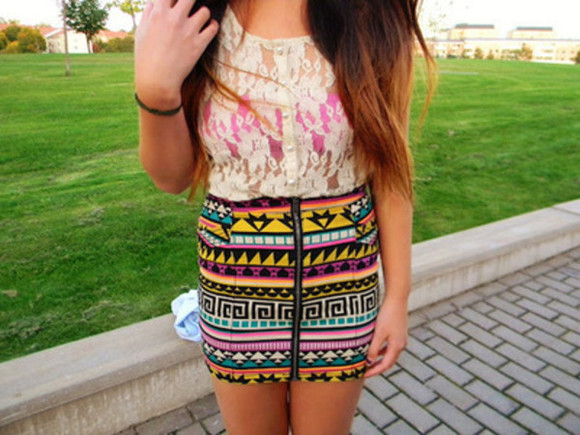 skirt aztec skirt tribal tribal skirt aztec
