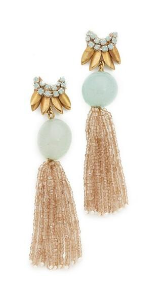 earrings gold mint jewels
