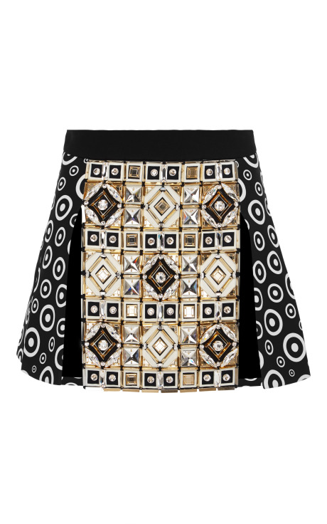 Panel mini skirt by fausto puglisi