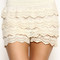 Ivory crochet shorts | betsy boo's boutique - free shipping always!