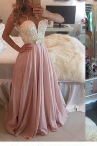 dress gown prom dress pink prom dress