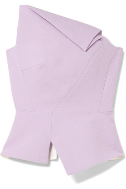 Roland Mouret top wool lilac