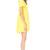 Vestido lazo espalda abierta manga corta-amarillo