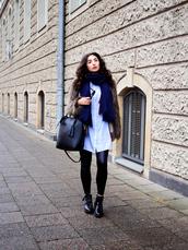 samieze,blogger,shirt,dress,jacket,leggings,bag,shoes,jewels,ankle boots,fur coat,winter outfits,black bag,grey fur jacket