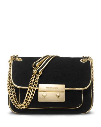 MICHAEL Michael Kors  Small Specchio Sloan Suede Shoulder Flap Bag - Neiman Marcus