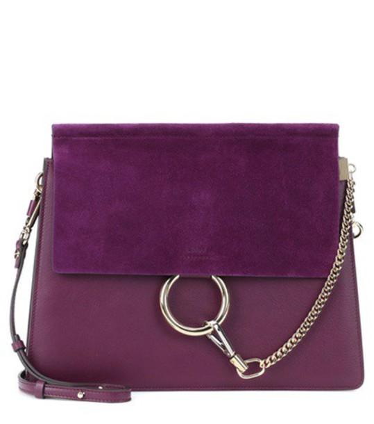 Chloe bag shoulder bag leather purple