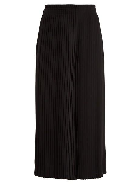 Mm6 Maison Margiela pleated cropped black pants