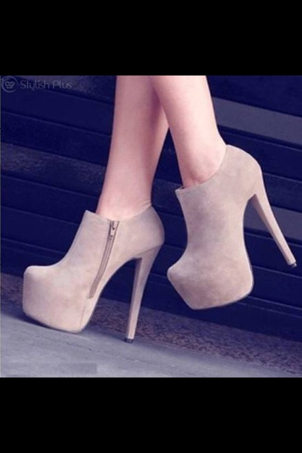 shoes nude high heels ankle boots