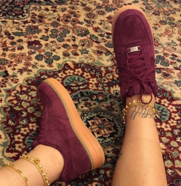shoes nike air force 1 burgundy
