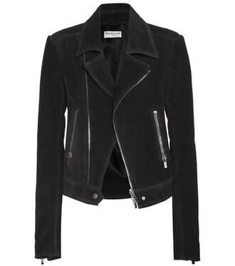 jacket biker jacket suede black