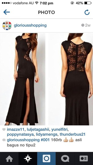 dress formal dress prom dress formal party dresses lace lace back love back black
