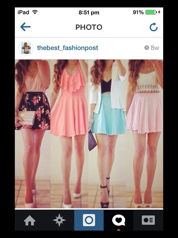 dress skirt top shoes
