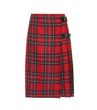skirt wool red
