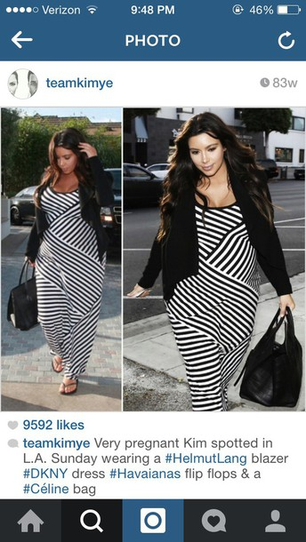 kim kardashian striped dress maternity dress