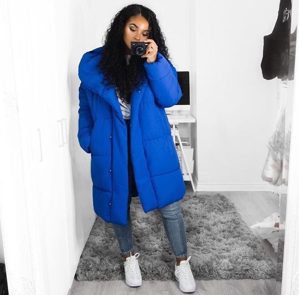 jacket cobalt blue down jacket hooded winter jacket blue navy long jacket long puffer jacket hooded jacket royal blue