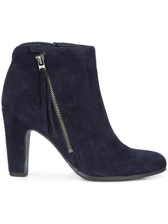women boots ankle boots blue suede shoes