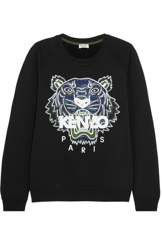 sweatshirt tiger cotton black sweater