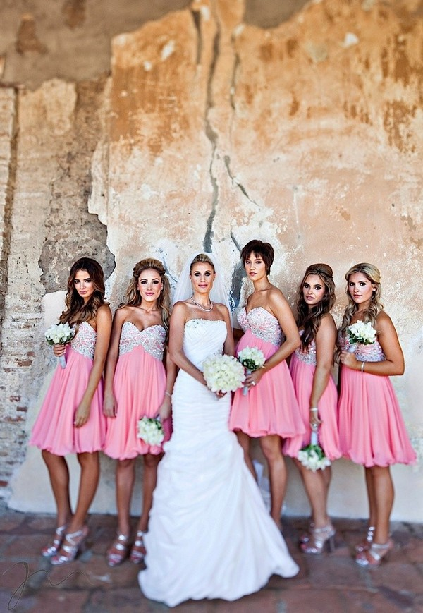 dress wondeful dress bridesmaid long bridesmaid dress wonderful dress short pink chiffon dress knee-length dress