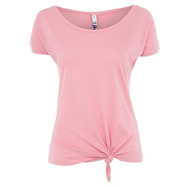 Pink knot front t