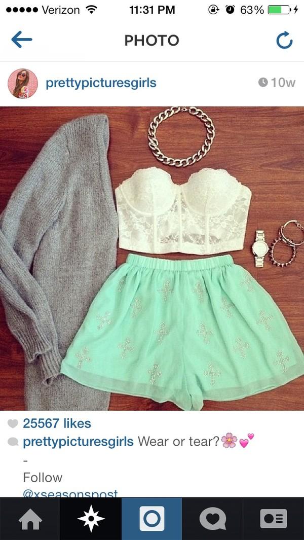 shirt jacket jewels skirt shorts