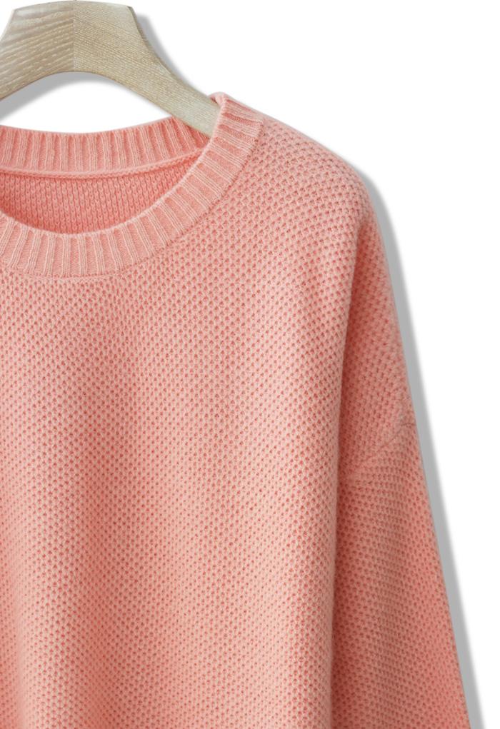 Premium Angora Waffle Knit Sweater - Retro, Indie and Unique Fashion
