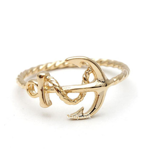 jewels anchor jewelry anchor ring beach jewelry resort look summer jewelry ring woman ring