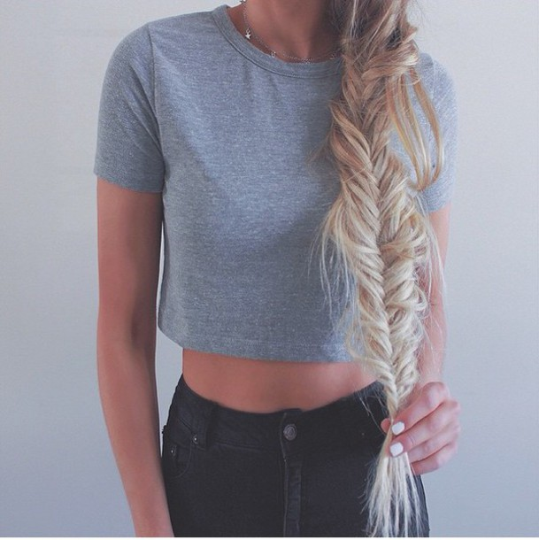 top grey cute ️style summer clothes