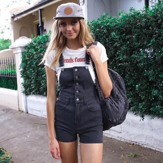 romper overalls denim overalls black overalls short overalls button front button front overalls black denim peppermayo afends