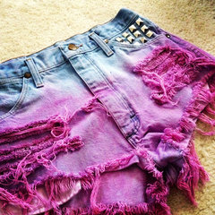 TIE DYE SHORTS PURPLE AND TEAL  on The Hunt