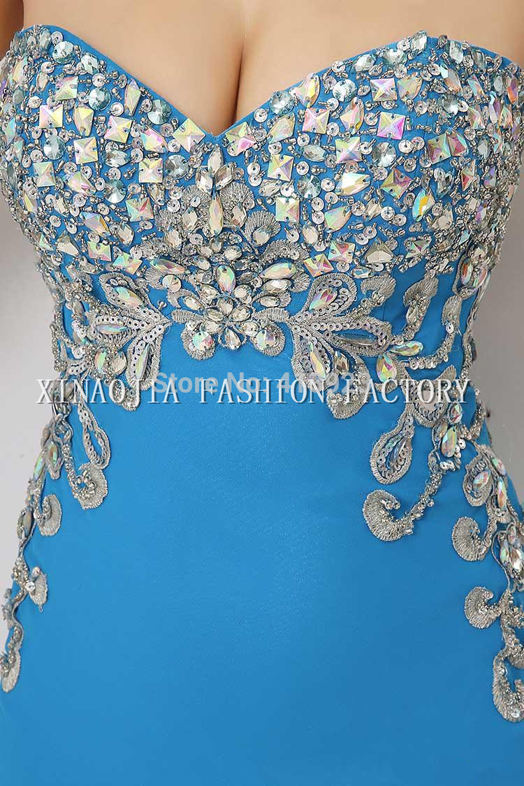 Aliexpress.com : Buy 100% Real Image 2014 Cheap In Stock Special Luxury Sexy Evening Dresses Chiffon Crystal Sheer One Shoulder Homecoming Prom Gowns from Reliable beaded clothes suppliers on Chaozhou City Xin Aojia dress Factory