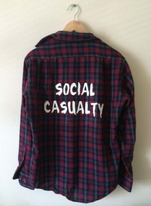 top social casualty flannel shirt jacket