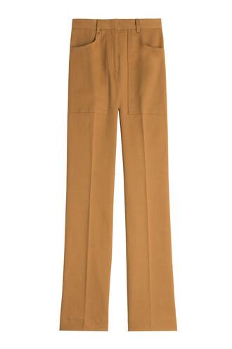 pants cotton brown