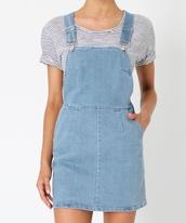 dress,pinafore,denim,dungaree,subtitled,stripes,shirt,blue,pinafore dress,denim dress