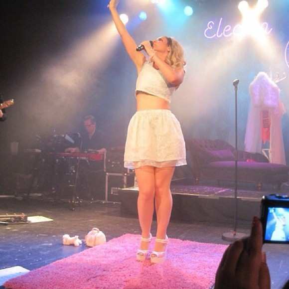 wedges skirt baby blue matching top and skirt marina diamandis marina and the diamonds