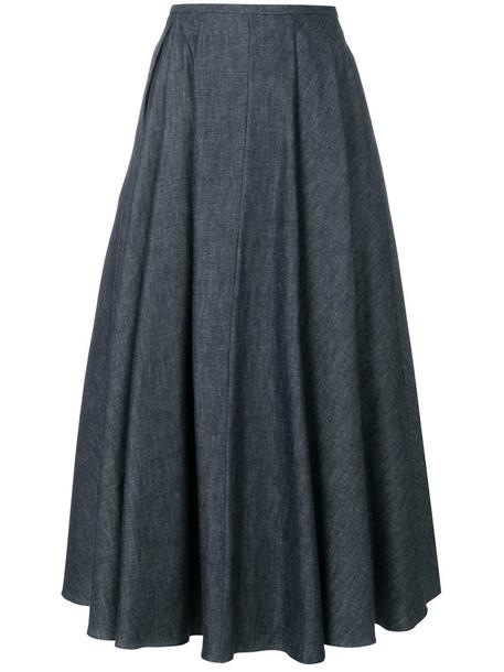 Rochas skirt denim skirt denim women cotton blue