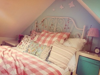 home accessory girly bedding bedroom gingham