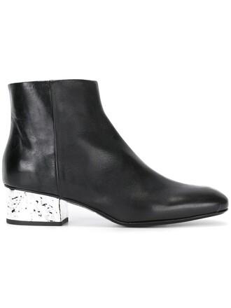 heel metallic boots heel boots black shoes
