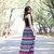 Aztec Chiffon Maxi Skirt /Boho Skirt Maxi/Circle Skirt/Long Skirt Maxi/Tulle Skirt Women/Bohemian Skirt Maxi