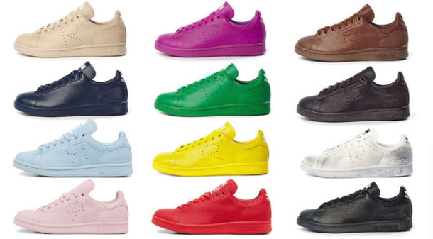 best sneakers 46bcc d3edc shoes adidas raf simons stan smith stan smith sneakers mens shoes low top  sneakers colorful