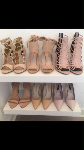 shoes any of these shoes. shorts nude shoes high heels nude pumps pretty nude heels dusty pink nude pink shoes party shoes wedding shoes tank top style nude beige heels
