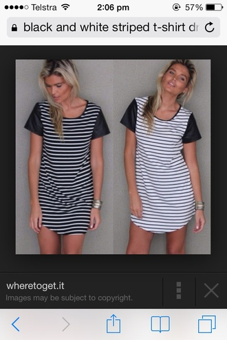 dress t-shirt dress striped dress