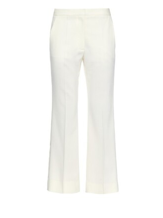 flare cropped wool pants