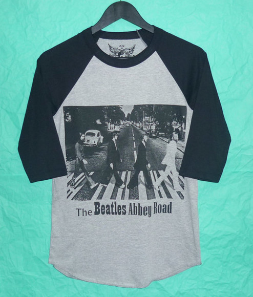 clothes beatles style muscle tank abbeyroad tshrt teen shirt teen style rock'n'roll