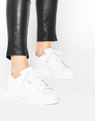 Adidas | adidas Originals Superstar Foundation White Sneakers at ASOS