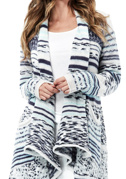 Lovestitch Azure Maxi Cardigan Sweater - LOVESTITCH