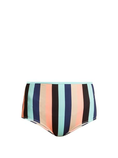 bikini striped bikini high swimwear