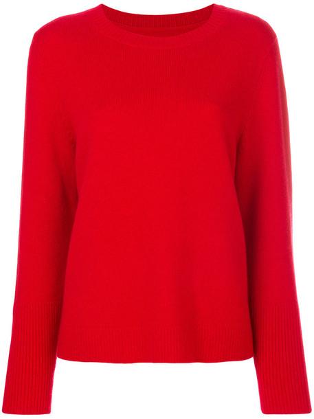 sweater women draped red